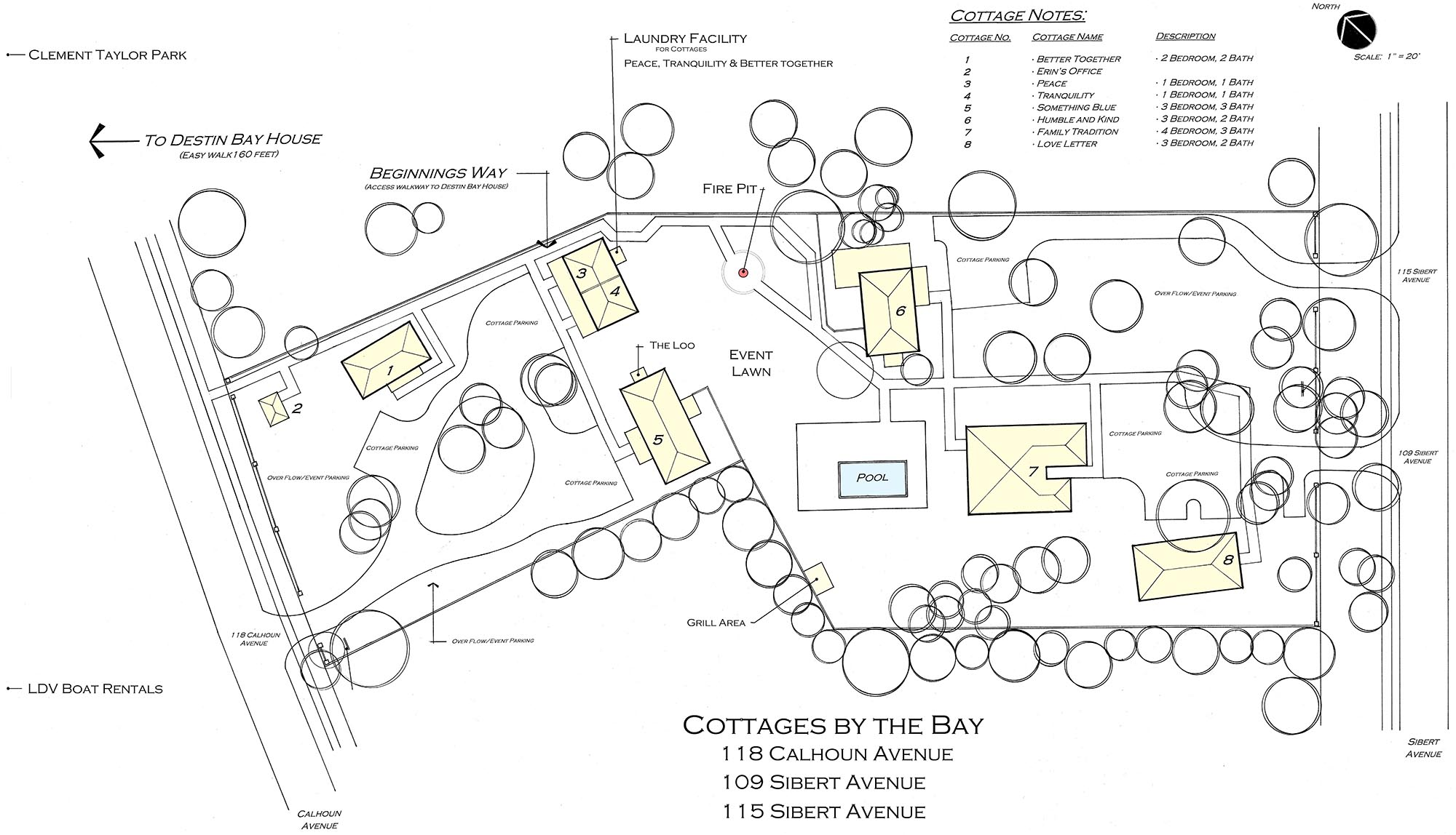 Cottages by the Bay Site Plan