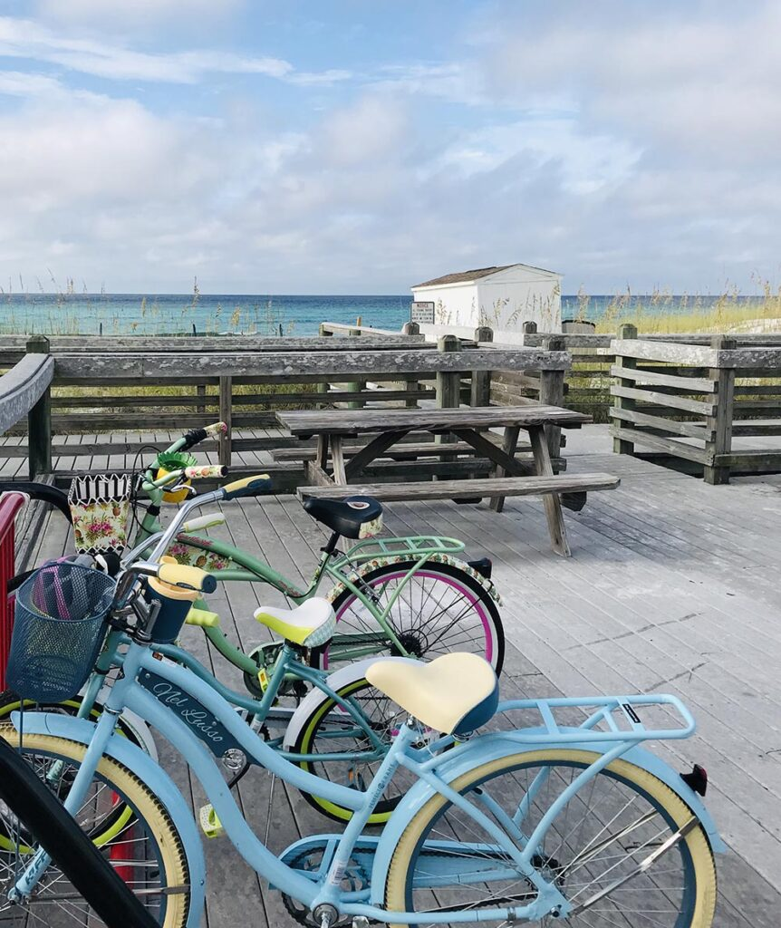 Bikes near Beach Access Points in Destin